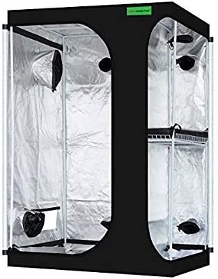 VIPARSPECTRA 2 in 1 48ax36ax72a Mylar Hydroponic Grow Tent with Observation Window and Floor Tray for Indoor Plant Growing 4 x3