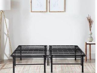 Rest Haven 14  Steel Platform Bed Frame  Queen  Black