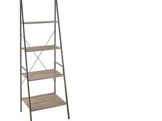 70  ladder Bookshelf Mixed Material Gray   ClosetMaid DAMAGED
