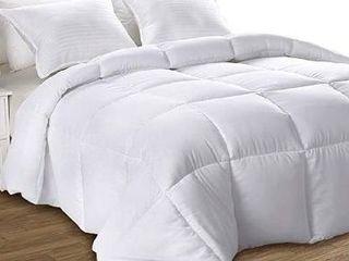 Utopia Bedding Down Alternative Comforter  King White    All Season Comforter   Plush Siliconized Fiberfill
