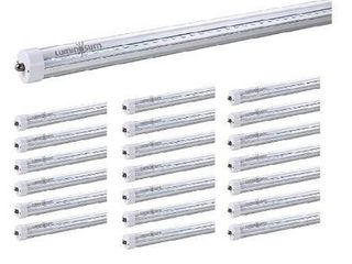 lUMINOSUM  T8 lED Tube light 8 Feet 40W  Single Pin FA8 Base  Clear Cover  Cool White 6000k  Fluorescent Tube Replacement  ETl Certified