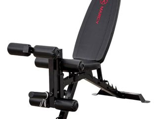 Marcy Deluxe Utility Weight Bench   Red Black