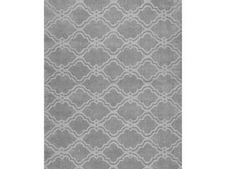 nulOOM Abstract Area Rug  5  x 8  Grey