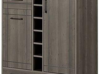 South Shore Vietti Bar Cabinet and Bottle Storage Gray Maple