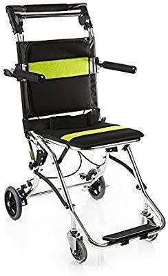 yuwell Potable Folding Travelling Wheelchair Ultra lightweight Transport Wheelchair for The Elderly and Children