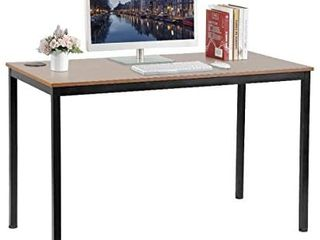 Eureka Ergonomic 47 Inch Simple Computer Desk  writing Table  teak