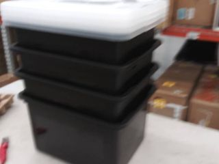 4 large files boxes  damage to some lids