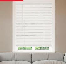 Bali Blinds 2  Faux Wood Corded 23 x 64  White   Not Inspected