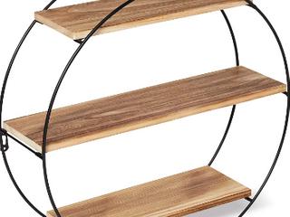Hiibrid Round Geometric Floating Wall Shelf    Not Inspected