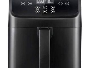 COMFEE  5 8Qt Digital Air Fryer  Toaster Oven   Oilless Cooker  1700W with 8 Preset Functions  lED Touchscreen