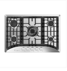 Empava 30   glass stove cooktop 5 italy sabaf sealed burners    not Inspected