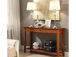 American Heritage Console Table   Cherry  Red   Medium    Convenience Concepts