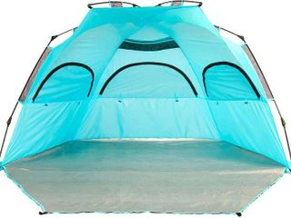 porayhut Easy Up Folding Beach Tent 3 4 Person Sun Shelter for Family and Sports Events SPF 50 large Ventilation Windows and Storage Pockets