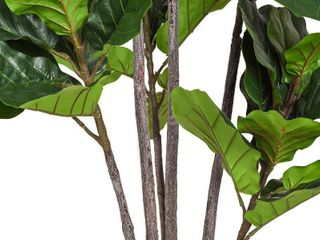 Woooow 6 Feet Artificial Fiddle leaf Fig Tree in Planter Artificial Tree Beautiful Fake Plant Fiddle leaf Indoor Outdoor UV Resistant Tree for living Room Balcony Corner Decor