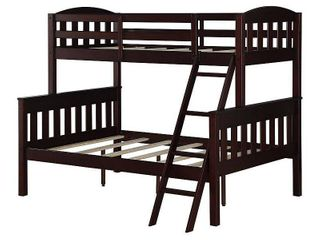 Dorel living Airlie Twin Over Full Wood Bunk Bed  Multiple Colors
