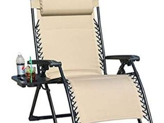 Goldsun Oversize Padded Zero Gravity Patio lounge Chair Adjustable Recliner With