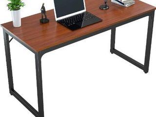 Foxemart Computer Desk 47a Modern Sturdy Office Desk 47 Inch PC laptop Notebook Study Writing Table for Home Office Workstation  Teak