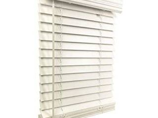 US Window And Floor 2  Faux Wood 70 5  W x 60  H  Inside Mount Cordless Blinds  70 5 x 60  White