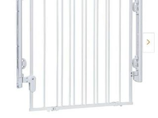 Ready to Install 28 in  Top of Stairs Child Safety Gate in White