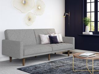 DHP Modern Retro Paxson Sofa Bed  light Gray