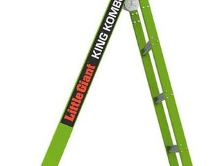 little Giant ladders  King Kombo  Professional  6 Ft  A Frame  10 Ft  Extension  Fiberglass  Type 1AA  375 lbs Weight Rating   13610 001