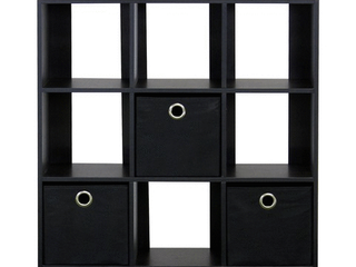 Furinno 13207 Simplistic 9 Cube Organizer with Bins