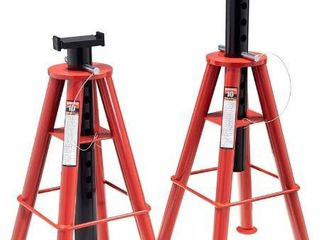 Sunex 1410 10 Ton  High Height  Pin Type  Jack Stands  Pair
