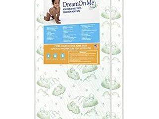 Dream On Me 3  Playard Mattress  White