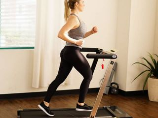 ASUNA Folding Slim Treadmill  Motorized with Speakers and lCD Displays  220 lB Max Weight   8730G