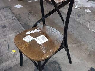 Metal Dining Chair with Wood Seat and back rest
