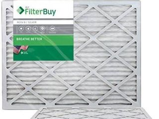 FilterBuy 24x30x1 MERV 8 Pleated AC Furnace Air Filter   Pack of 2 Filters  24x30x1 a Silver