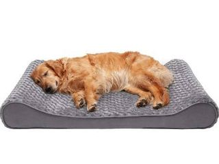 Furhaven Pet   Plush Ergonomic Contour Orthopedic Foam Mattress Dog Bed and Round Snuggery Hooded Dog Blanket Bed for Dogs and Cats   Multiple Styles  Sizes  and Colors