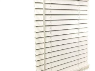 US Window and Floor Inc  Cordless 2  Faux Wood Blind  White