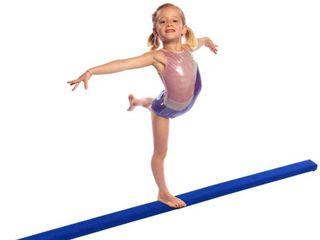 8ft Folding Gymnastic Beam  pink
