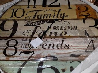 Family   Where life begins and love Ends Clock