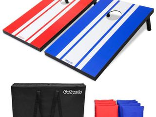 GoSports Classic Cornhole Set Includes 8 Bags  Carry Case and Rules