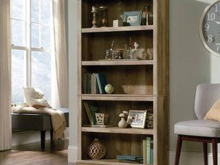 Sauder Select 5 Shelf Bookcase  lintel Oak