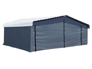Arrow 20  x 20  Enclosure Kit for Carport  Grey