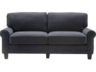 73  Copenhagen Sofa Charcoal   Serta