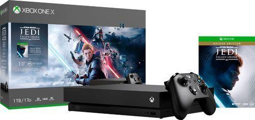 Microsoft Xbox One X 1TB Star Wars Jedi  Fallen Ordera  Black  CYV 00411  Game Not Included
