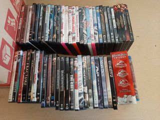 Approximately 55 DVDs