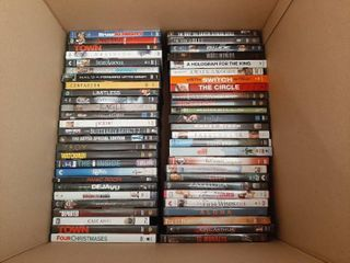 Approximately 50 DVDs