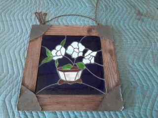 Stained Glass in Wooden Frame