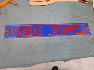 Pressed Metal Kansas Jayhawks Sign