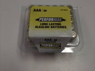 30 Performax AAA Alkaline Batteries long lasting   Exp Sept 2029