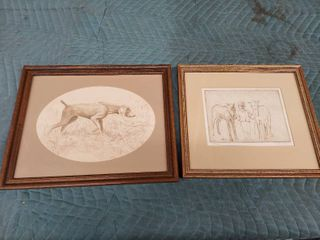 2 Framed Etchings by Peter Johnson   1 is Signed and Numbered