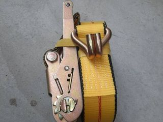 2  X 27ft Yellow Commercial Grade Double J Hook Ratchet Strap Tie Down