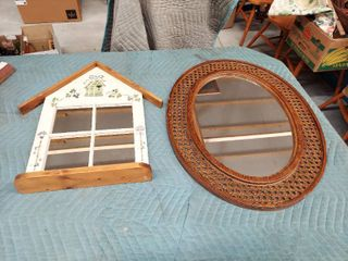 2 Mirrors   1 Painted Frame