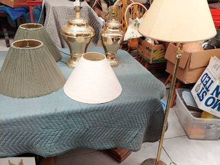 2 Table lamps and 1 Floor lamp