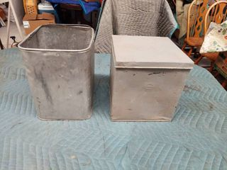 Metal Bucket and Box